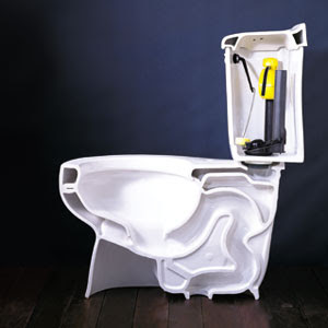 Low Flow Toilet - cross section