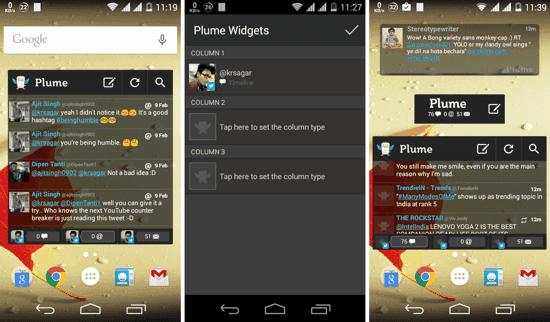 aplikasi widget homescreen twitter android