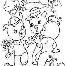 Dibujos Para Colorear Los Tres Cerditos Eshellokidscom