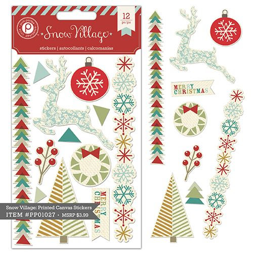Snow Village Canvas Stickers $3.99