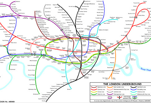 Curvy Tube Map by Maxwell Roberts - click to see a larger version