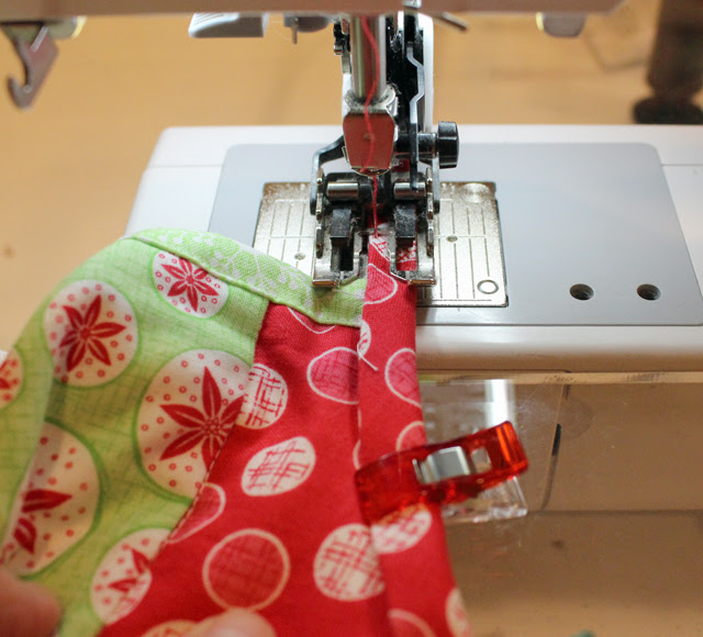 bias binding stitching ties