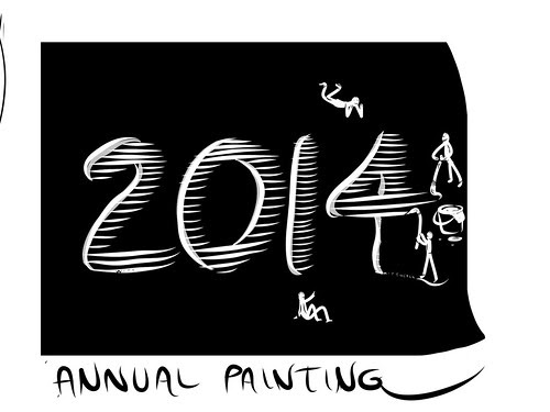 Painting the new year, 2014... by douglaswittnebel