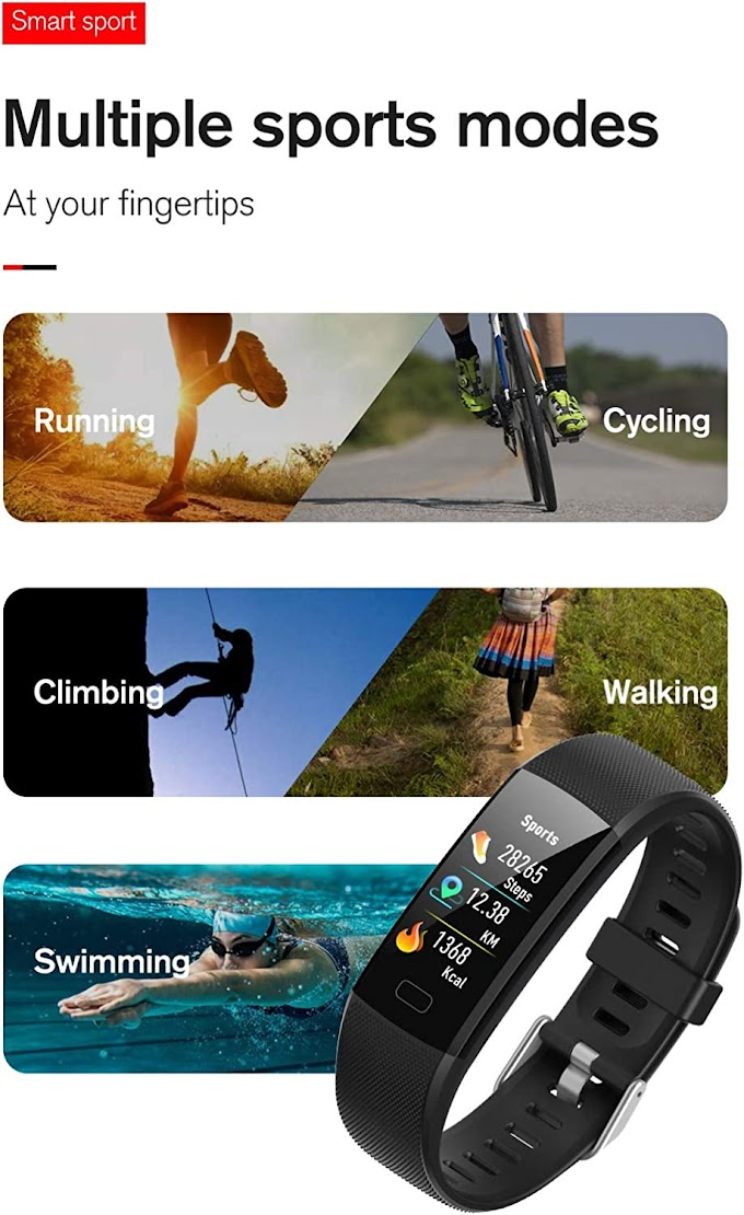 Fitness Tracker with Heart Rate and BP Monitor