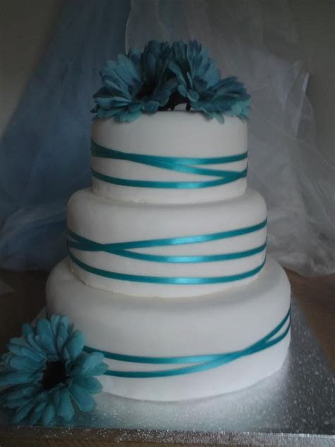 Aqua wedding cake  Wedding ideas for brides, grooms
