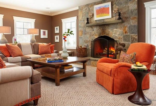 Orange Color in Interior Design | Home Interior Design ...