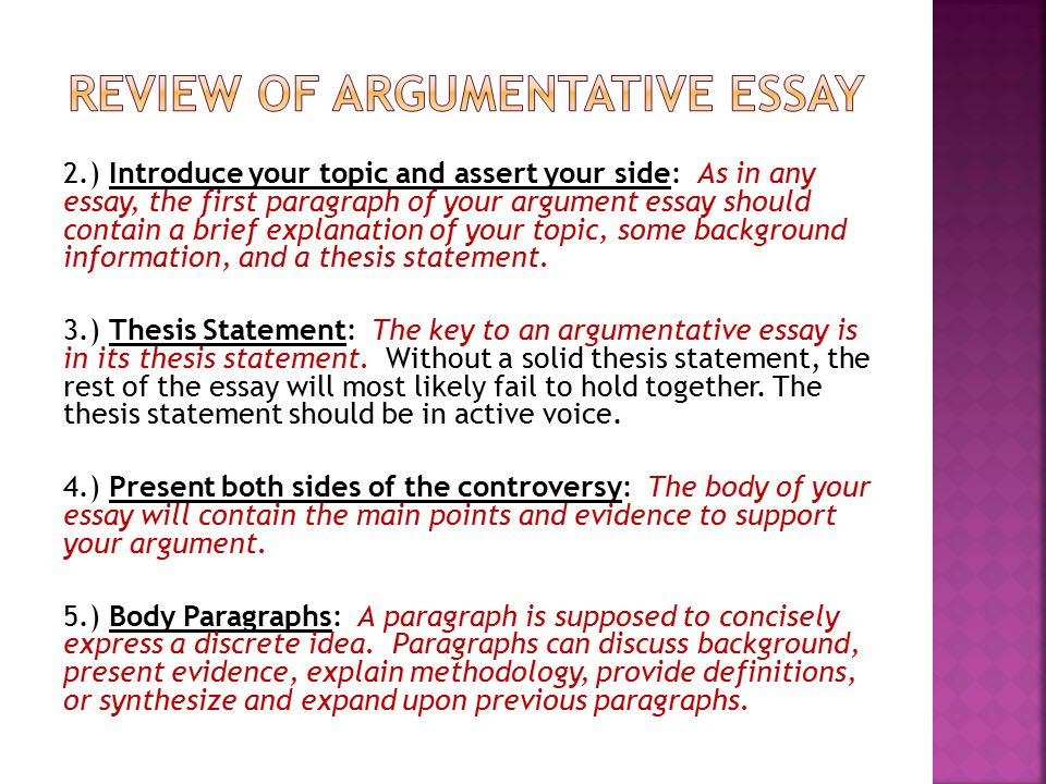 Thesis Statement In An Argumentative Essay - Thesis Title Ideas For College
