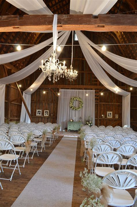 Beautiful Chic Barn Wedding. These drapes would look