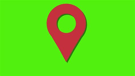 pin geo location isolated icon logo  render hd footage
