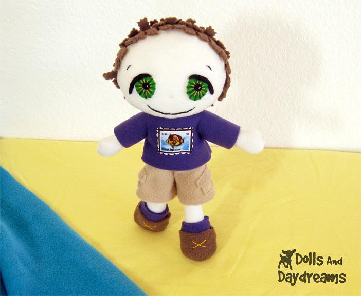 fleece boy doll sewing pattern easy cute