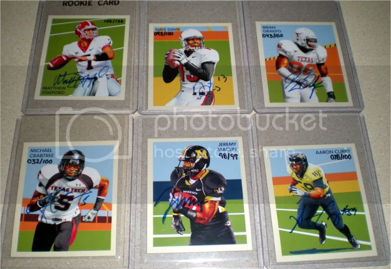 2009 Philadelphia Chicle Auto Rookies 76-82