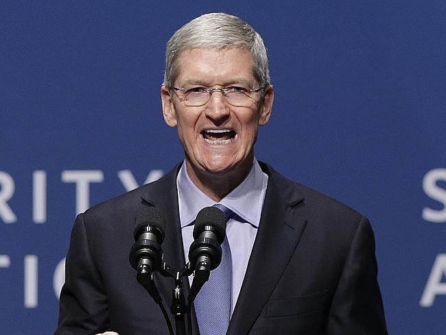 Apple chief executive Tim Cook oversees a company that is worth $US750 billion.
