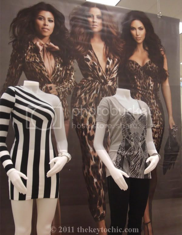 Kardashian Kollection Sears striped dress