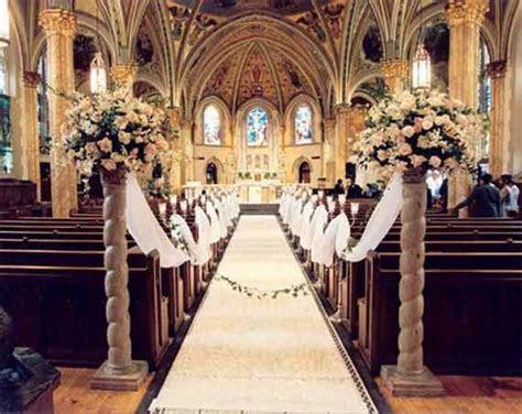 decorating pews for weddings   Floral Church Wedding