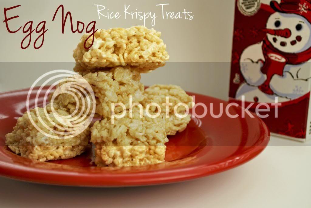 Egg Nog Rice Krispy Treats