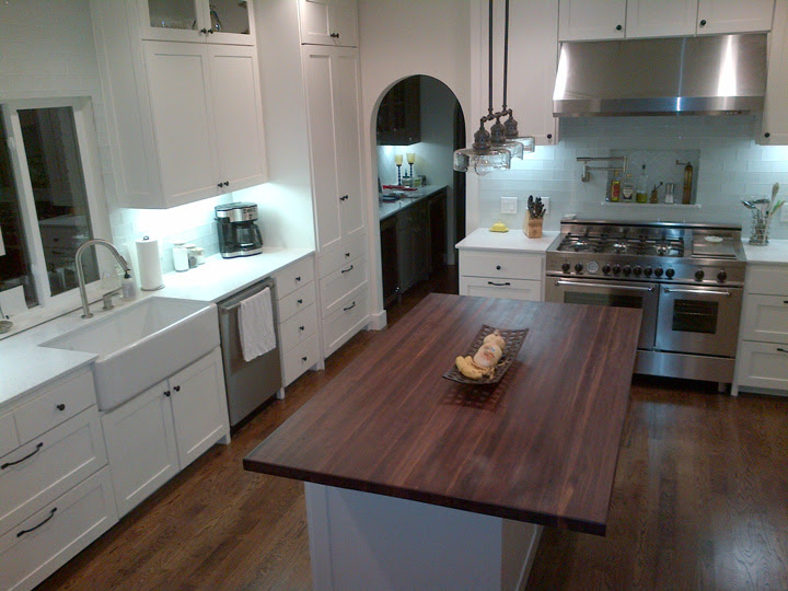 Grey Kitchen Cabinets With Butcher Block Countertops ...