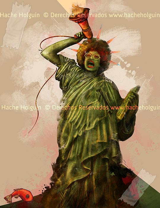 Angela Davis por Hache Holguín
