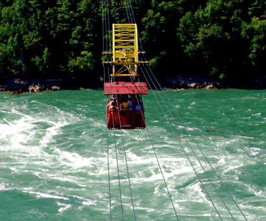 The Whirlpool Aero Car as seen from the other side of the whirlpool