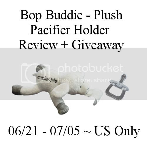 Bop Bussie - Plush Pacifier Holder Review + Giveaway 6/21 - 07/05 ~ US Only