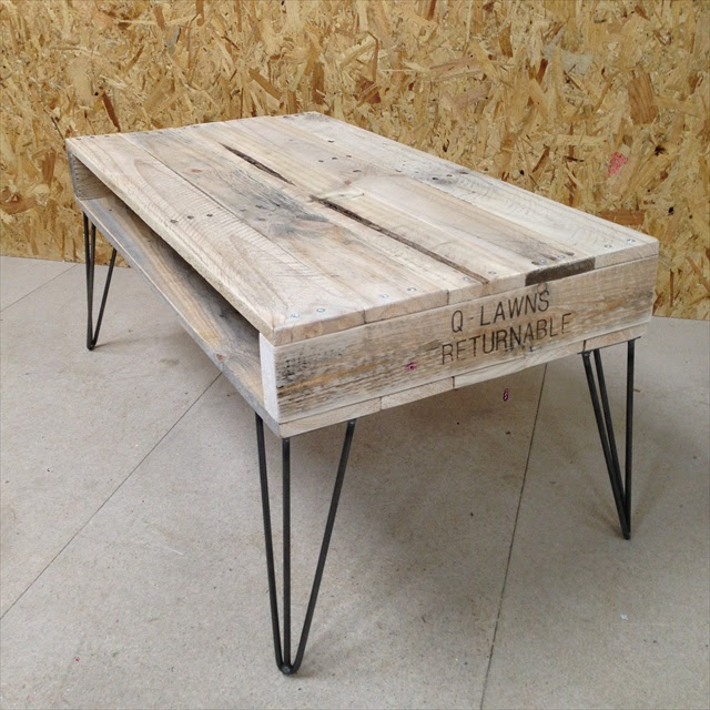 13 DIY Pallet Tables with Hairpin Legs   1001 Pallet Ideas