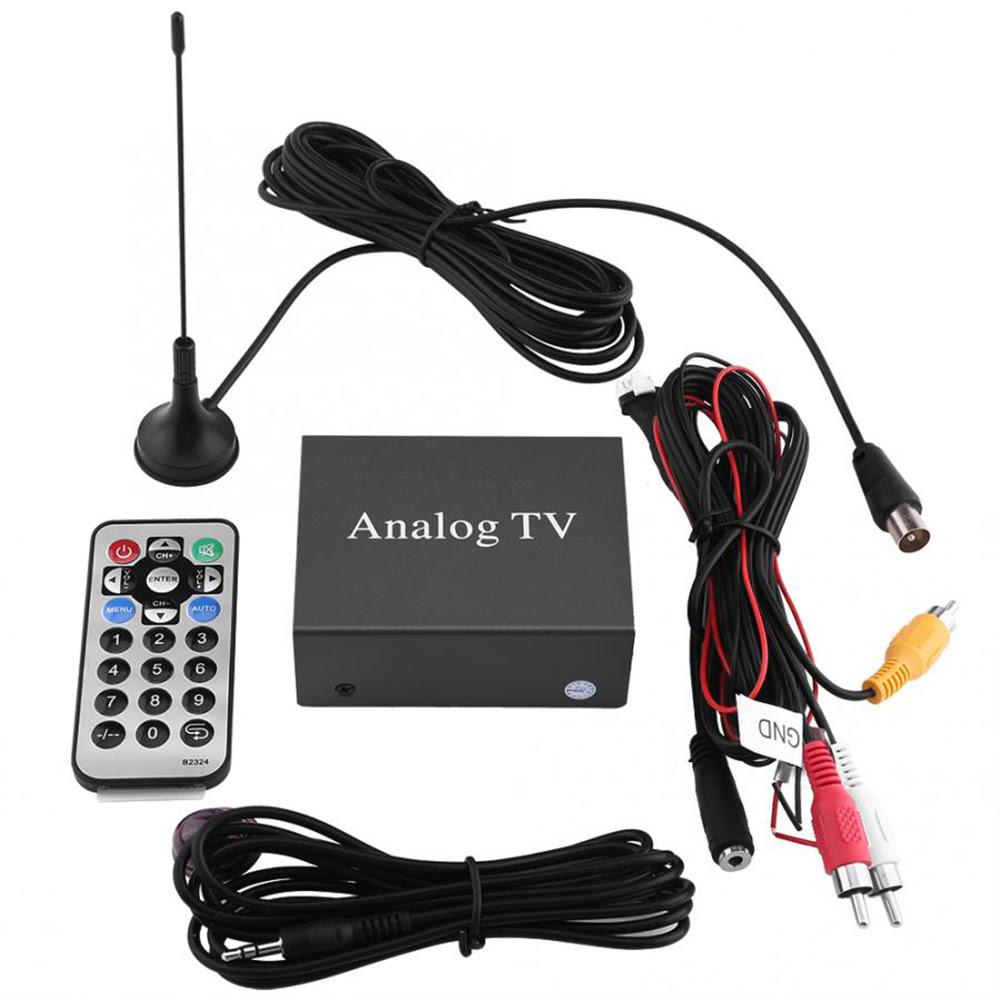 Voiture Auto Mobile Dvd Tv Recepteur Analogique Tv Tuner Forte Boite De Signal Avec Antenne Telecommande Voiture Accessoires Aliexpress