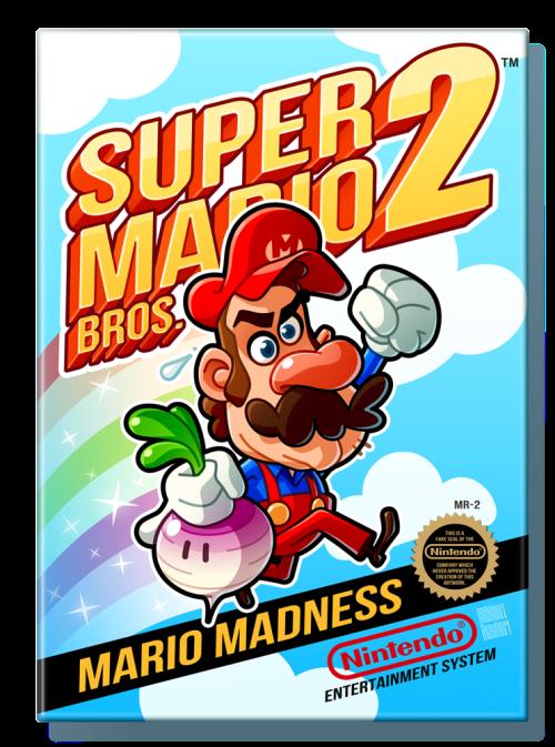 Super Mario Bros. 2 (1988) Nintendo Entertainment System Box Art Tribute