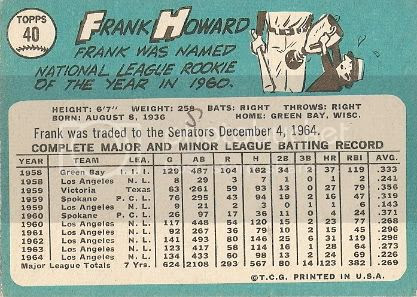 #40 Frank Howard (back)