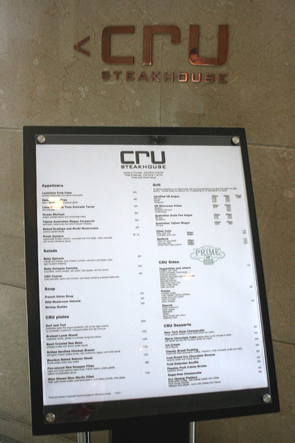 Cru Steakhouse at the Marriott Hotel Manila