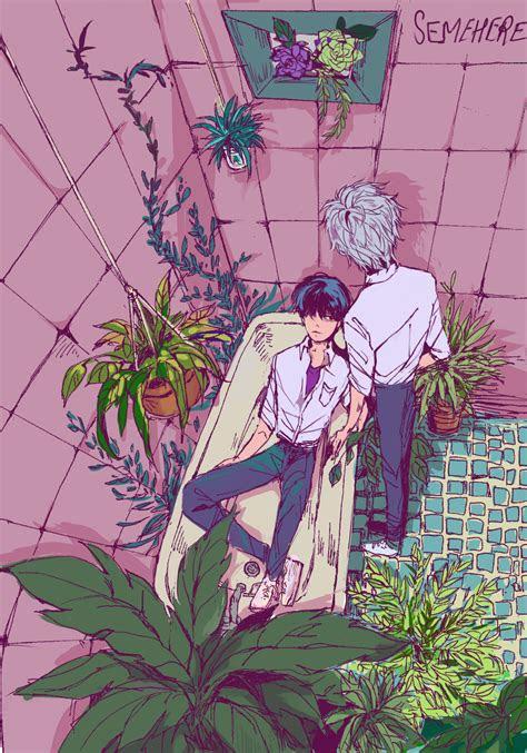 bathtub  flora         aesthetic anime
