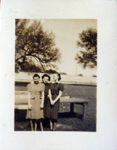 Three women in park