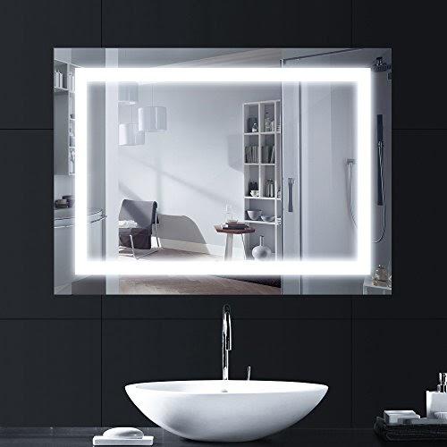 Lampada/Specchio Bagno Led Wowatt Lampada Bagno Parete 60 cm 8W 640 LM Luce Bianca Naturale 4000k Impermeabile IP44 Applique in Alluminio