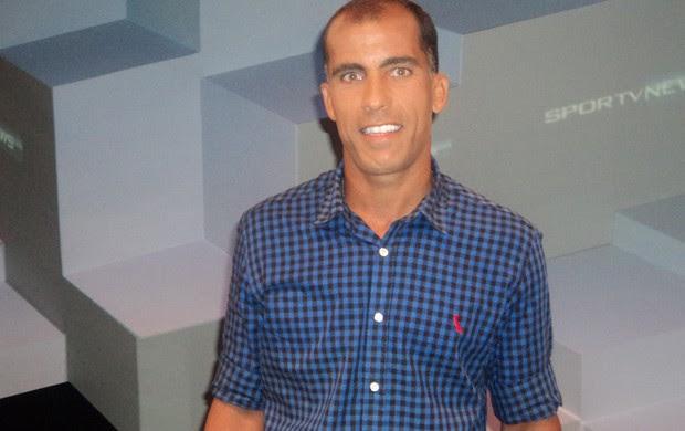 Felipe fez anúncio no SporTV News (Foto: Luiz Carlos Ferreira)
