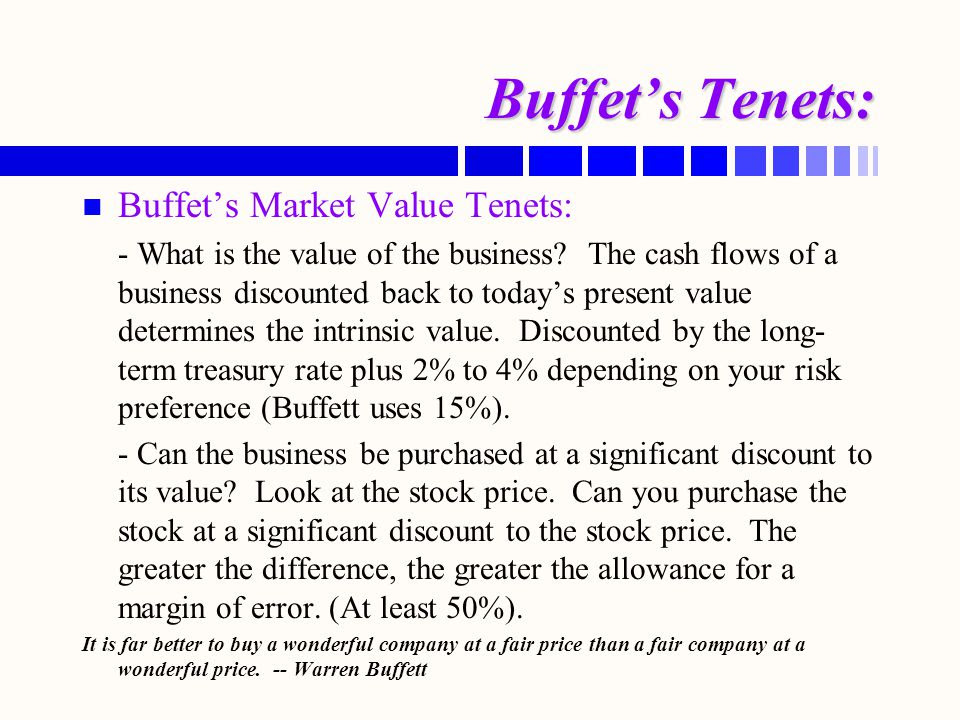 Image result for buffett intrinsic value is the present value of all its future cash flows