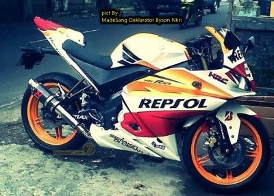 Modifikasi Yamaha New Vixion Ala Yamaha YZF R Ber Livery Marquez