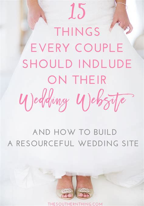 15 Things Every Couple Should Include on Their Wedding Website