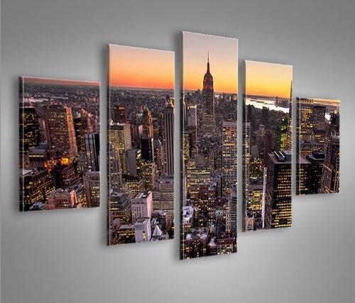 Interni casa new york city v6 mf 5 quadri moderni su tela for Veltroni casa new york