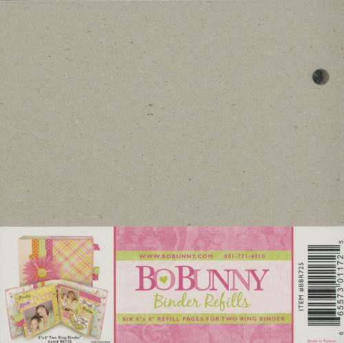 BO BUNNY Bo Bunny 2-Ring Bare Naked Binder 6 Inch X6 Inch