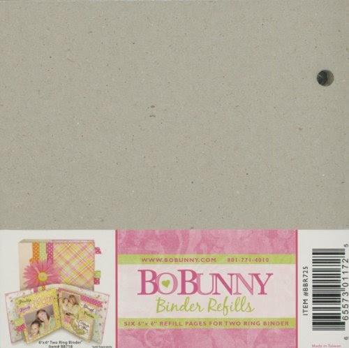 Bo Bunny Bare Naked Binder Refill 6x6 | eBay