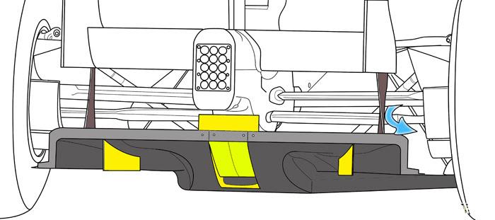 Diffusore McLaren MP4/26