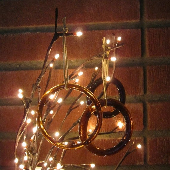 One Beer Ornament from Recycled Glass Bottle