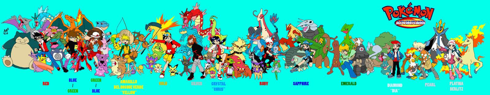 quot;Pokemon Adventuresquot; cast by EmSeeSquared on DeviantArt