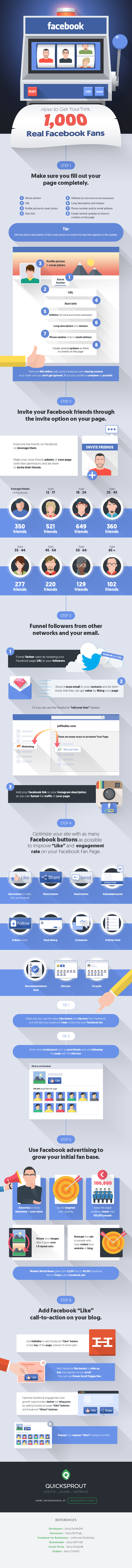 6 Quickest Ways To Grow Your Facebook Followers - #infographic