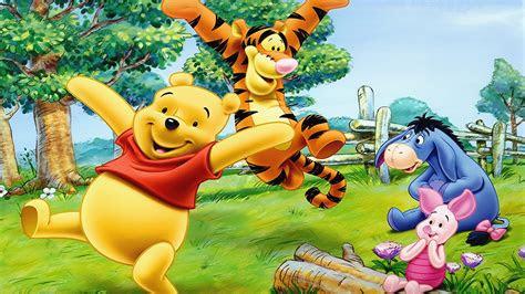cartoon tigger piglet  winnie  pooh happy  cheerful friends wallpapers hd