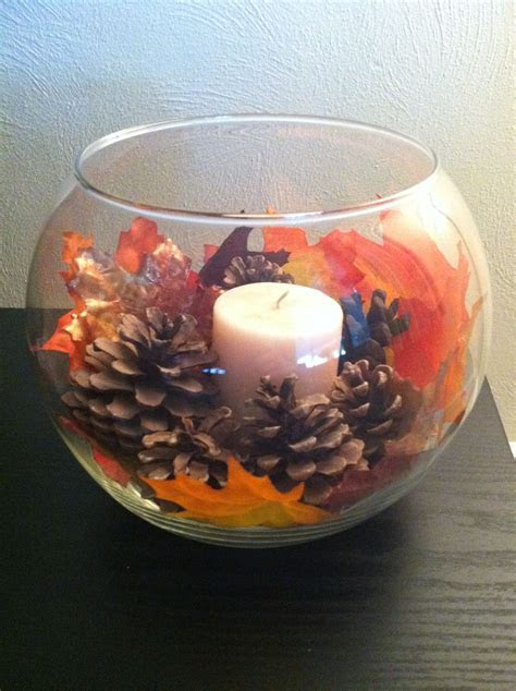 Simple fall decor. Perfect because we have these from the