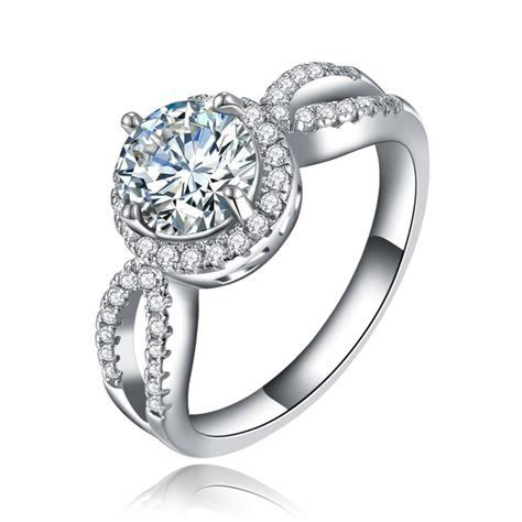 2016 luxury women wedding ring party engagement jewelry