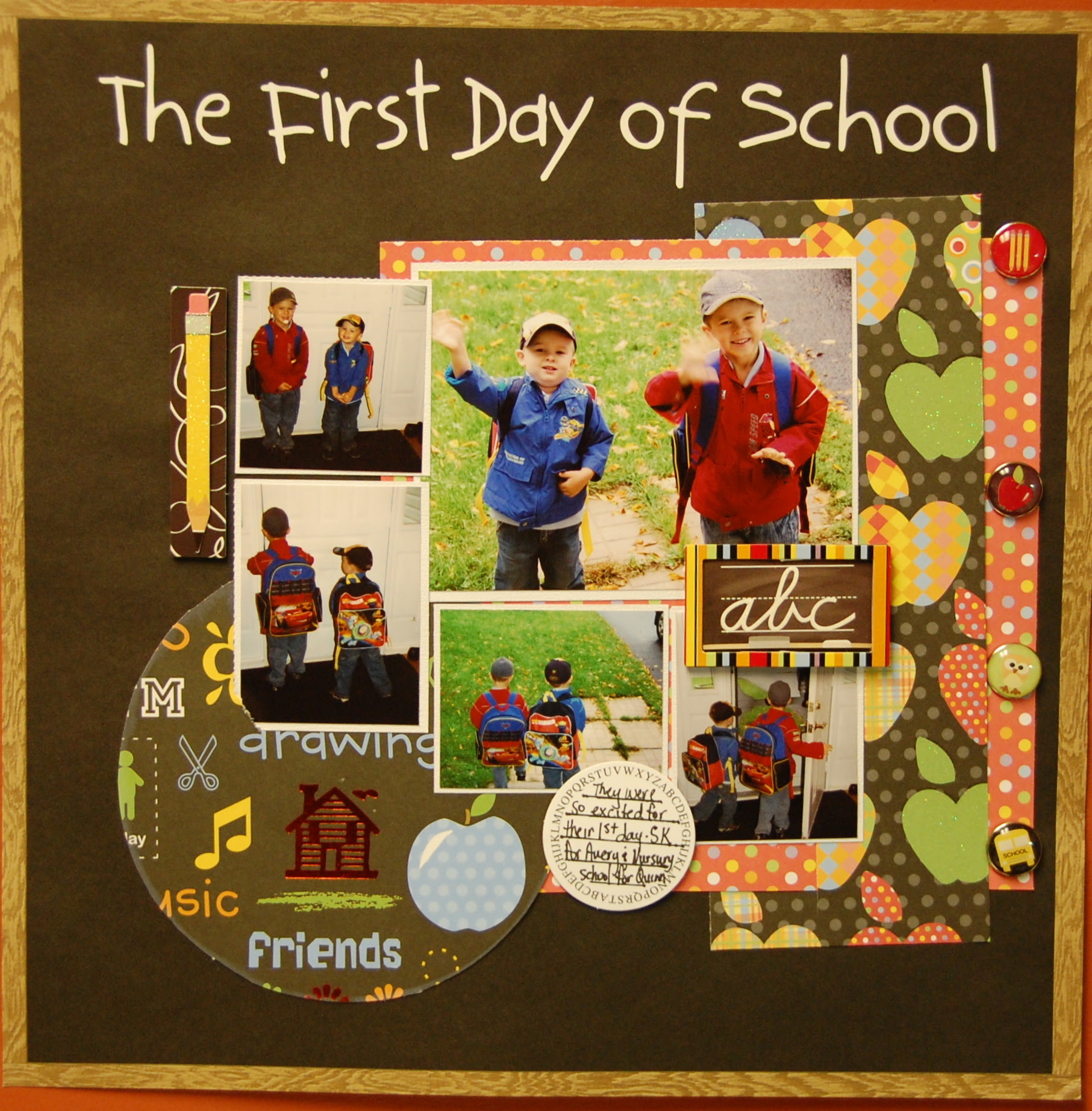 ... Grade Collection - 12 x 12 Double Sided Paper - First Day of School