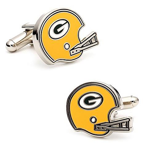 NFL Retro Packers Cufflinks  www.BedBathandBeyond.com