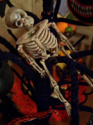 skeletons dance around and about