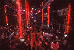 Studio 54 - Dancefloor da cabine de DJ