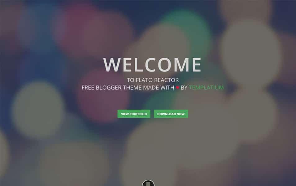 Flato Reactor Free Responsive Blogger Template